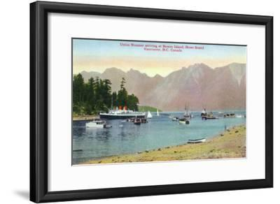Vancouver, Canada - Howe Sound View of Union Steamer at Bowen Island-Lantern Press-Framed Art Print