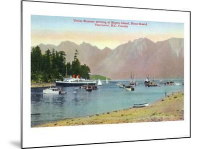 Vancouver, Canada - Howe Sound View of Union Steamer at Bowen Island-Lantern Press-Mounted Art Print