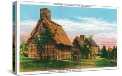 Salem, Massachusetts - Pioneers' Village Scene in Forest River Park-Lantern Press-Stretched Canvas Print