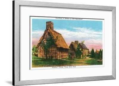 Salem, Massachusetts - Pioneers' Village Scene in Forest River Park-Lantern Press-Framed Art Print