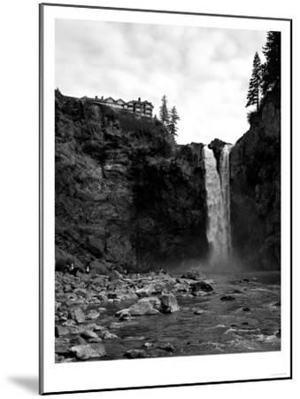 Snoqualmie Falls, Washington - View from Below Falls-Lantern Press-Mounted Art Print