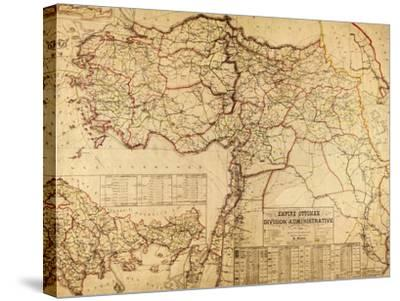 Turkey, Ottoman Empire - Panoramic Map-Lantern Press-Stretched Canvas Print