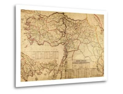 Turkey, Ottoman Empire - Panoramic Map-Lantern Press-Metal Print