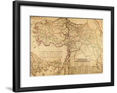 Turkey, Ottoman Empire - Panoramic Map-Lantern Press-Framed Art Print