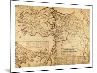 Turkey, Ottoman Empire - Panoramic Map-Lantern Press-Mounted Art Print