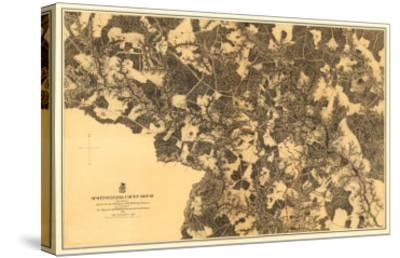 Battle of Spotsylvania Court House - Civil War Panoramic Map-Lantern Press-Stretched Canvas Print