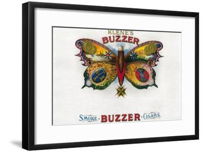 Buzzer Cigar Box Label-Lantern Press-Framed Art Print