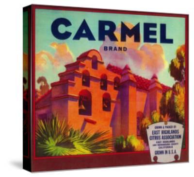 Carmel Orange Label - East Highlands, CA-Lantern Press-Stretched Canvas Print