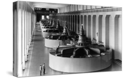 Bonneville Dam View of Generators Photograph - Bonneville Dam, WA-Lantern Press-Stretched Canvas Print
