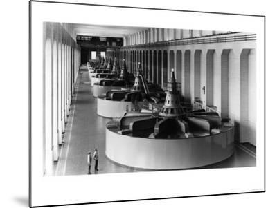 Bonneville Dam View of Generators Photograph - Bonneville Dam, WA-Lantern Press-Mounted Art Print
