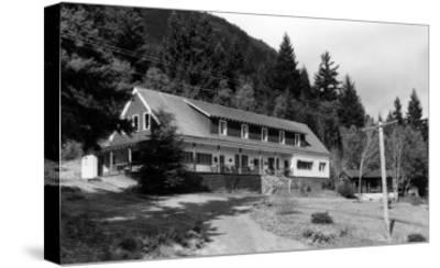 Brinnon, WA View of Olympic Inn on Hood Canal Photograph - Brinnon, WA-Lantern Press-Stretched Canvas Print