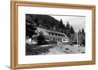 Brinnon, WA View of Olympic Inn on Hood Canal Photograph - Brinnon, WA-Lantern Press-Framed Art Print
