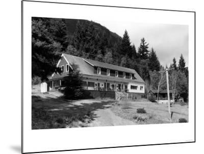 Brinnon, WA View of Olympic Inn on Hood Canal Photograph - Brinnon, WA-Lantern Press-Mounted Art Print