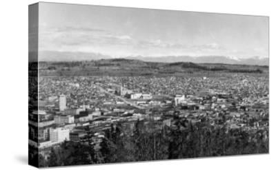 Bellingham, WA Town View from Sehome Hill Photograph No.1 - Bellingham, WA-Lantern Press-Stretched Canvas Print