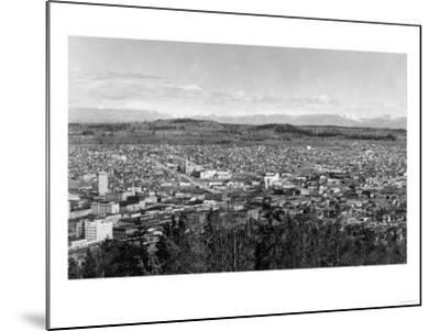 Bellingham, WA Town View from Sehome Hill Photograph No.1 - Bellingham, WA-Lantern Press-Mounted Art Print