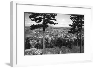 Bellingham, WA Town View from Sehome Hill Photograph No.2 - Bellingham, WA-Lantern Press-Framed Art Print