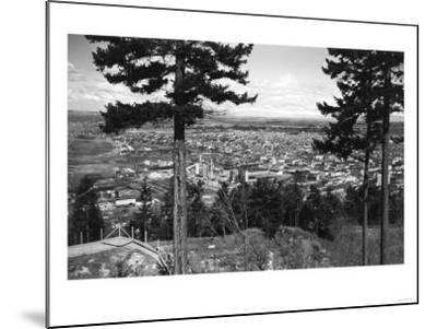 Bellingham, WA Town View from Sehome Hill Photograph No.2 - Bellingham, WA-Lantern Press-Mounted Art Print