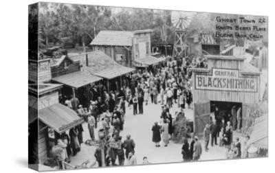 Buena Park, California Knotts Berry Place Ghost Town Photograph - Buena Park, CA-Lantern Press-Stretched Canvas Print