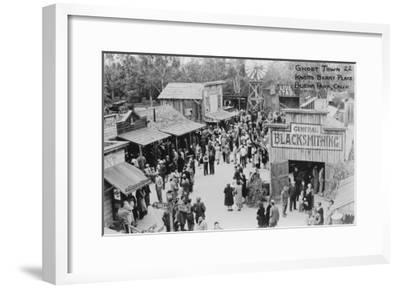 Buena Park, California Knotts Berry Place Ghost Town Photograph - Buena Park, CA-Lantern Press-Framed Art Print