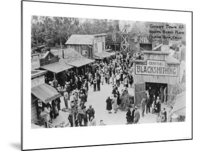 Buena Park, California Knotts Berry Place Ghost Town Photograph - Buena Park, CA-Lantern Press-Mounted Art Print