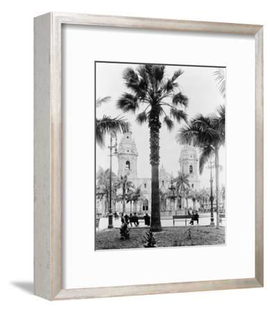Cathedral in the Plaza de Armas in Peru Photograph - Lima, Peru-Lantern Press-Framed Art Print