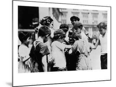 Children Drinking on a Hot Day in New York Photograph - New York, NY-Lantern Press-Mounted Art Print
