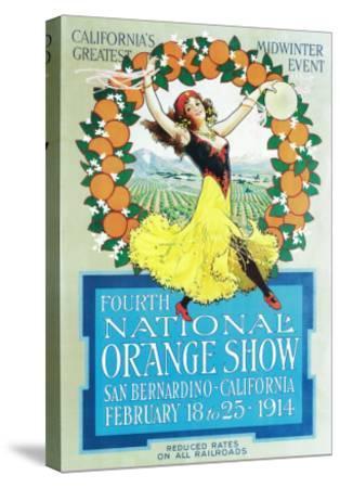 National Orange Show - California Poster No.2-Lantern Press-Stretched Canvas Print
