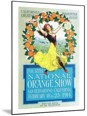 National Orange Show - California Poster No.2-Lantern Press-Mounted Art Print