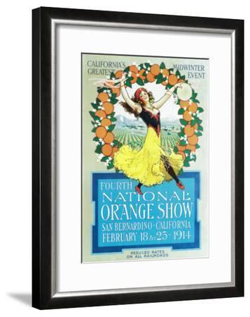 National Orange Show - California Poster No.2-Lantern Press-Framed Art Print