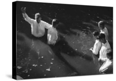 Baptism near Mineola Texas Photograph No.2 - Mineola, TX-Lantern Press-Stretched Canvas Print