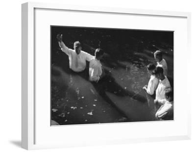 Baptism near Mineola Texas Photograph No.2 - Mineola, TX-Lantern Press-Framed Art Print