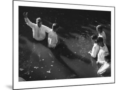 Baptism near Mineola Texas Photograph No.2 - Mineola, TX-Lantern Press-Mounted Art Print