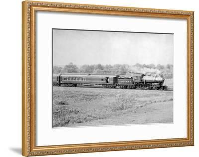 Chicago and Northwester Passenger Train Photograph - Chicago, IL-Lantern Press-Framed Art Print
