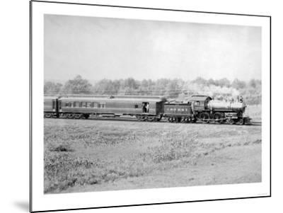 Chicago and Northwester Passenger Train Photograph - Chicago, IL-Lantern Press-Mounted Art Print