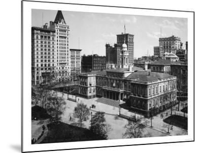 City Hall in New York City Photograph - New York, NY-Lantern Press-Mounted Art Print