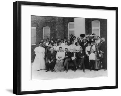 Carnegie and Tuskegee Institute Faculty Photograph - Tuskegee, AL-Lantern Press-Framed Art Print