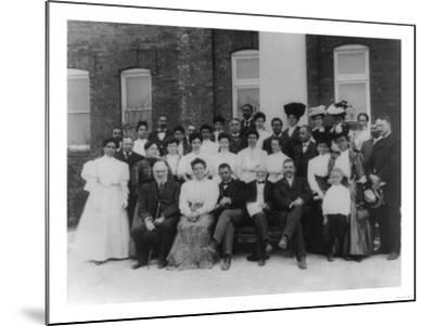 Carnegie and Tuskegee Institute Faculty Photograph - Tuskegee, AL-Lantern Press-Mounted Art Print