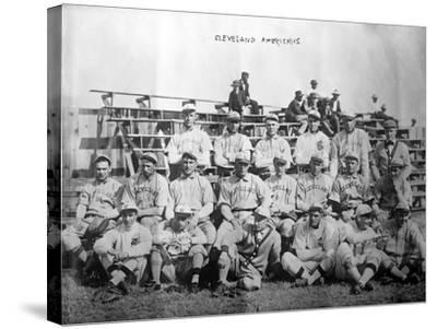 Cleveland Indians Team, Baseball Photo - Cleveland, OH-Lantern Press-Stretched Canvas Print