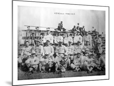 Cleveland Indians Team, Baseball Photo - Cleveland, OH-Lantern Press-Mounted Art Print