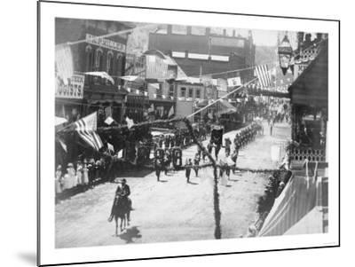 Citizens of Deadwood Celebrate Completion of Railroad No.2 Photograph - Deadwood, SD-Lantern Press-Mounted Art Print