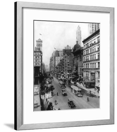 Broadway Theatres Winter Garden, Maxine Elliott's, Casino & Knickerbocker NYC Photo - New York, NY-Lantern Press-Framed Art Print