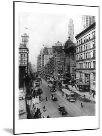Broadway Theatres Winter Garden, Maxine Elliott's, Casino & Knickerbocker NYC Photo - New York, NY-Lantern Press-Mounted Art Print