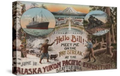 Seattle, WA - AD for Alaska Yukon Pacific Expo.-Lantern Press-Stretched Canvas Print