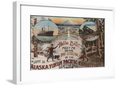Seattle, WA - AD for Alaska Yukon Pacific Expo.-Lantern Press-Framed Art Print