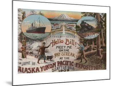 Seattle, WA - AD for Alaska Yukon Pacific Expo.-Lantern Press-Mounted Art Print