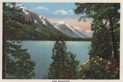 Wenatchee, WA - View of Lake Wenatchee-Lantern Press-Stretched Canvas Print