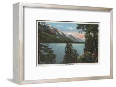 Wenatchee, WA - View of Lake Wenatchee-Lantern Press-Framed Art Print