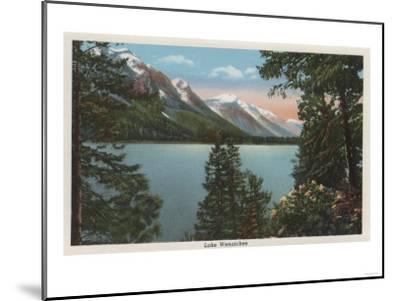 Wenatchee, WA - View of Lake Wenatchee-Lantern Press-Mounted Art Print