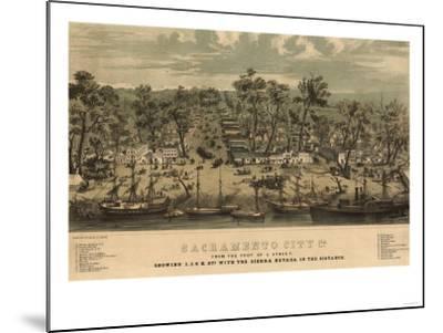 Sacramento, California - Panoramic Map No. 1-Lantern Press-Mounted Art Print