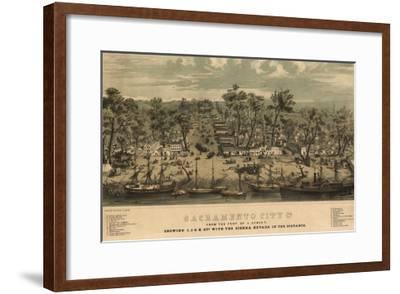 Sacramento, California - Panoramic Map No. 1-Lantern Press-Framed Art Print